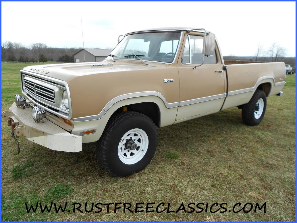 Locking Truck Bed Covers >> 1972 Dodge W200 3/4 ton Power Wagon 4x4 73 Adventurer Sport